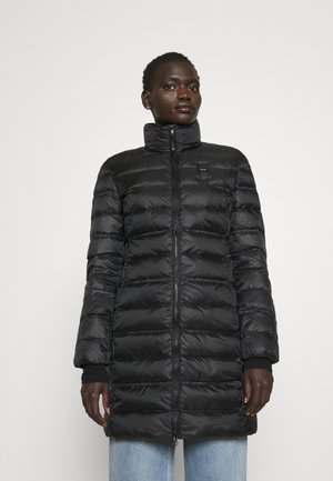 BASIC JACKET LONG STANDING NECK COLLAR - Short coat - black