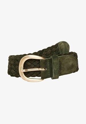 Braided belt - dark olive