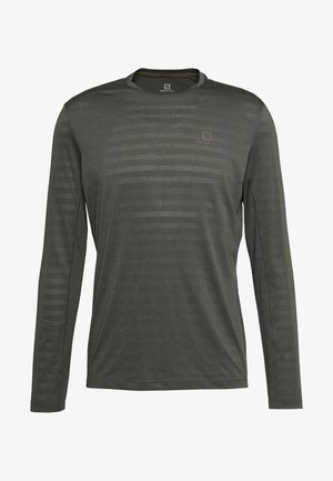 TEE - Long sleeved top - olive night/heather