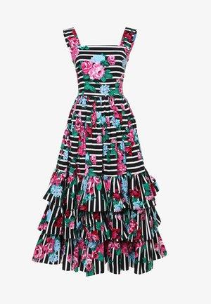 Korte jurk - schwarz, rosa