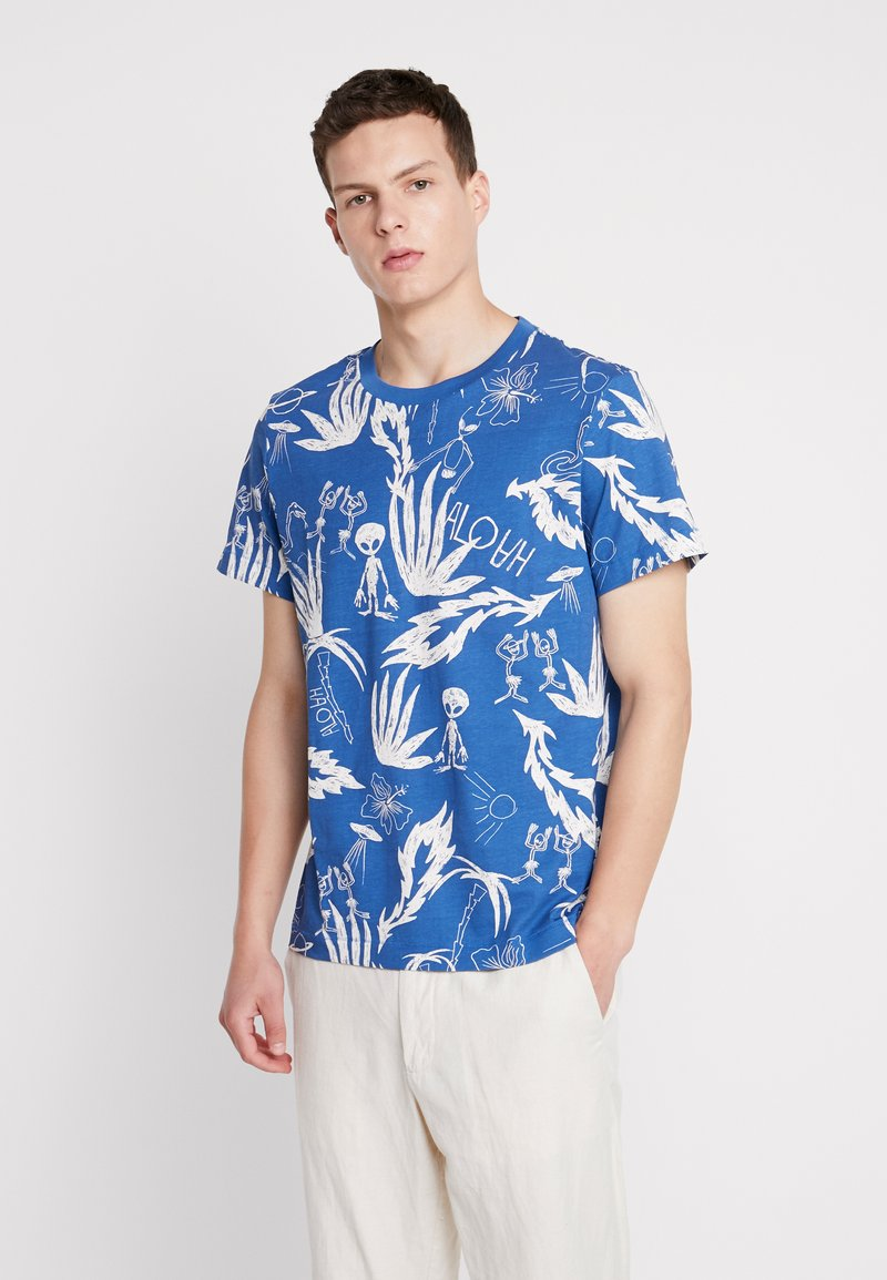 Weekday - PICTOR ALOHA  - T-shirts print - blue