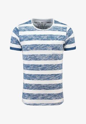 MT AIRFLOW  - Print T-shirt - white/cobalt blue