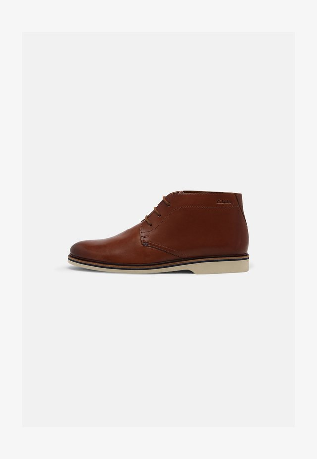 MALWOOD MID - Chaussures à lacets - dark tan