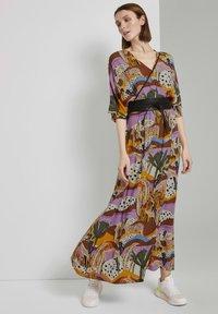 TOM TAILOR DENIM - Maxi dress - multi-coloured - 1
