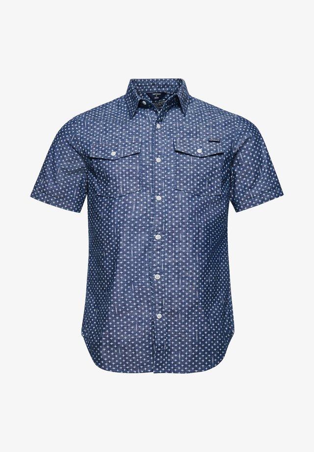 Overhemd - mid wash geo
