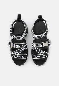 KARL LAGERFELD - ORBITAL RUN  - Sandały na platformie - black - 4