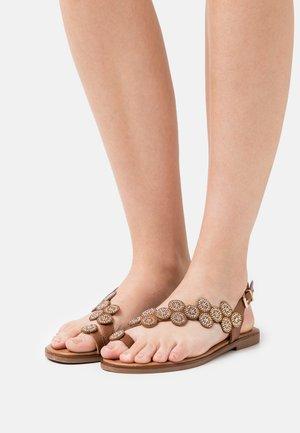 T-bar sandals - brown