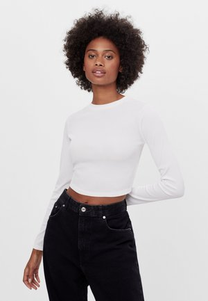 MIT SCHLEIFE AM RÜCKEN - T-shirt à manches longues - white