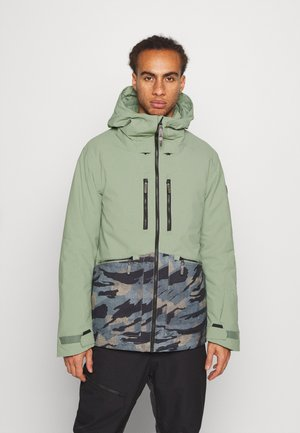 TEXTURE JACKET - Snowboard jacket - light green