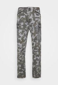 ROXIC STRAIGHT TAPERED PANT - Cargo trousers - black/dark grey