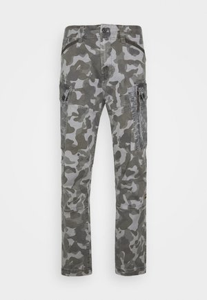 ROXIC STRAIGHT TAPERED PANT - Cargo trousers - black/dark grey