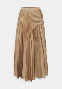 Selected Femme Tall - SLFHARMONY PLEATED SKIRT - A-line skirt - tigers eye - 0