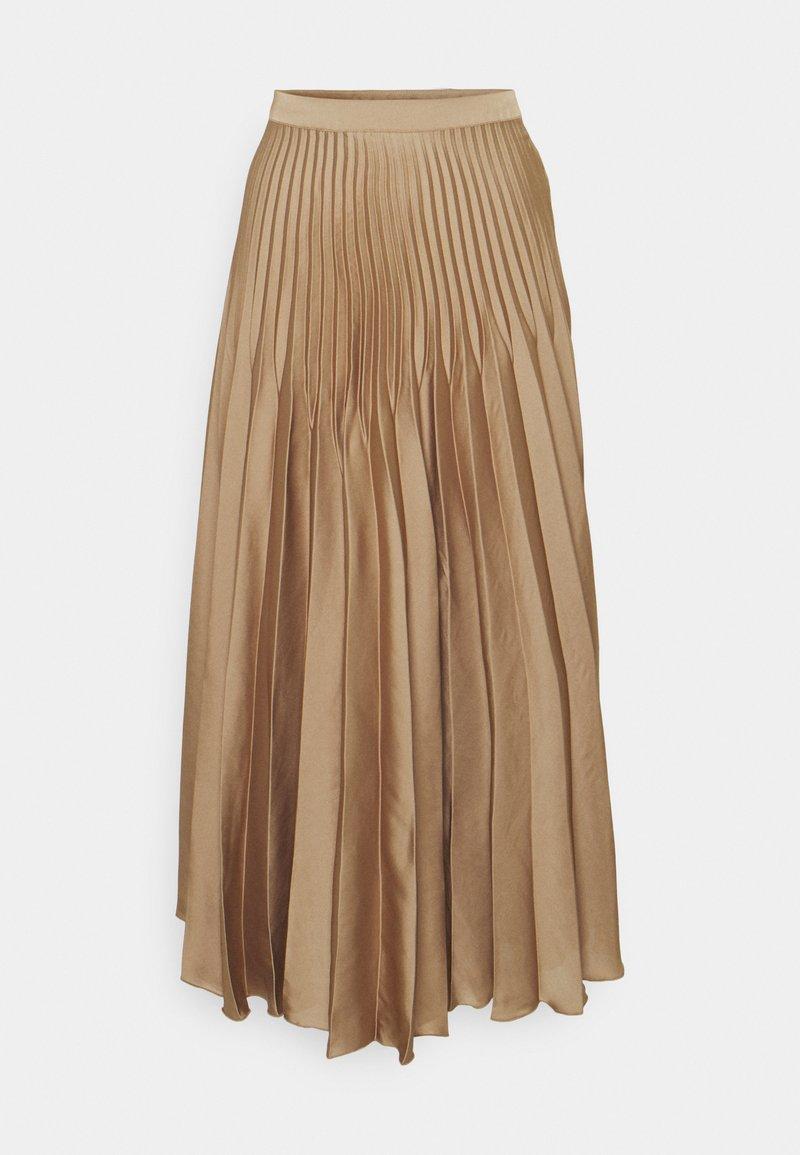 Selected Femme Tall - SLFHARMONY PLEATED SKIRT - A-line skirt - tigers eye