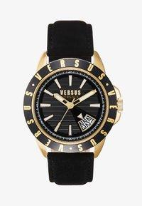 ARTHUR - Montre - black, gold-coloured
