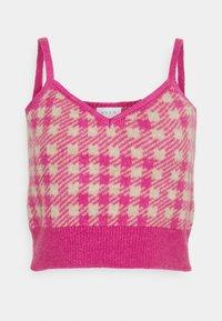 VICHEKINA STRAP - Top - natural melange / pink check