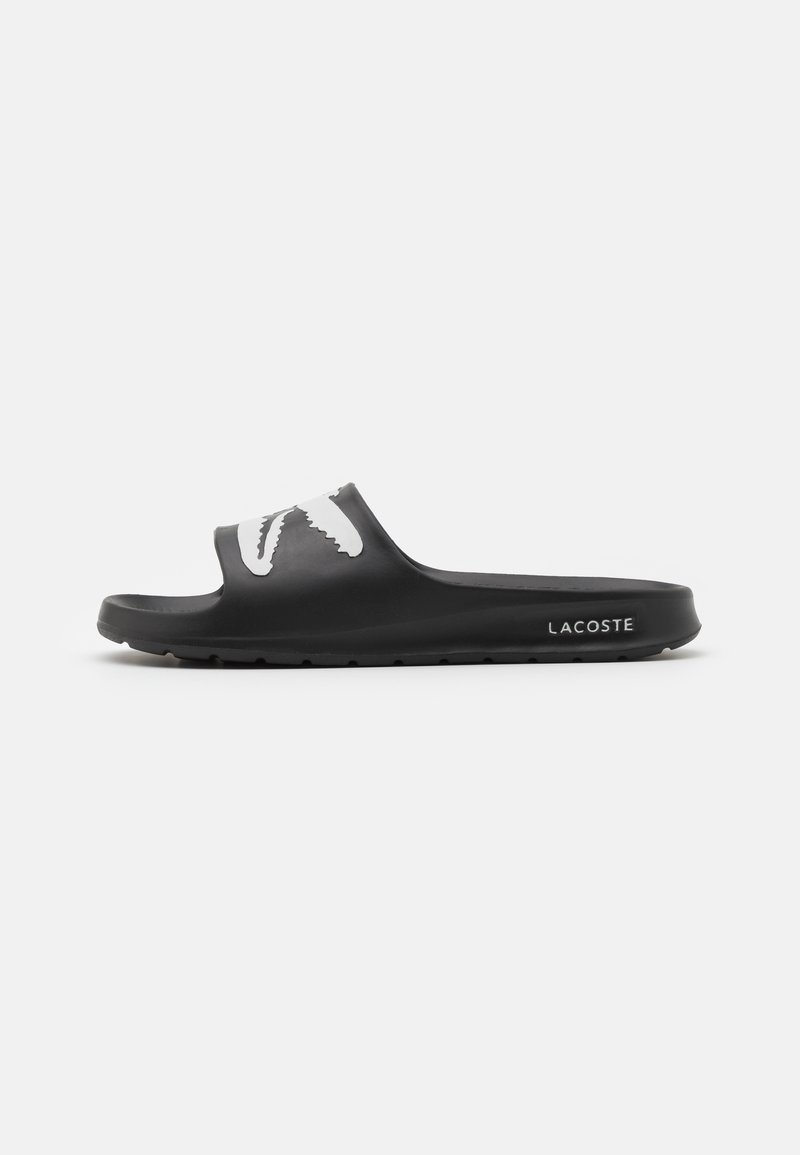 Lacoste - CROCO - Badslippers - black/white