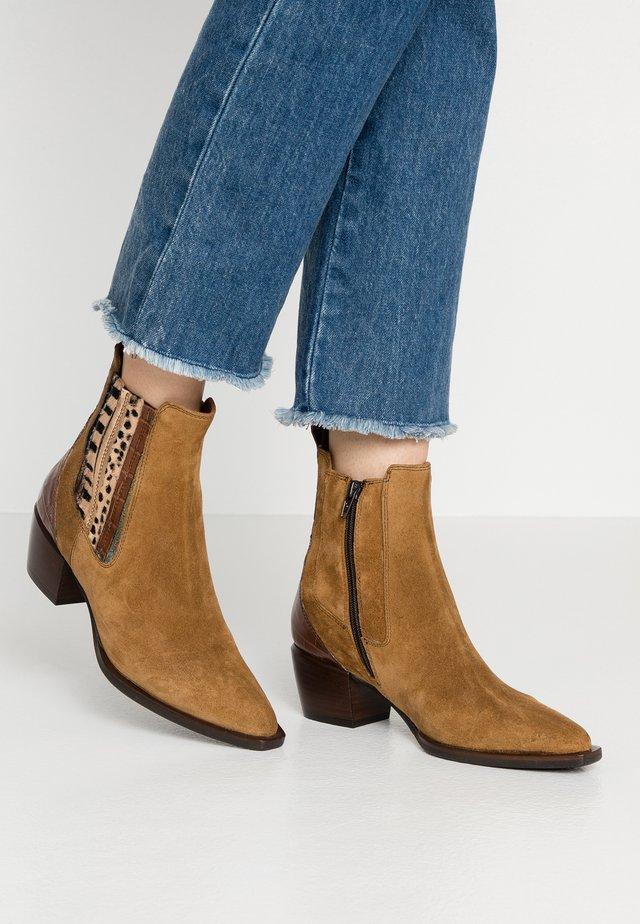 Cowboy/biker ankle boot - sensory senap moira/rovere maiorca bronzo/marrone/nero