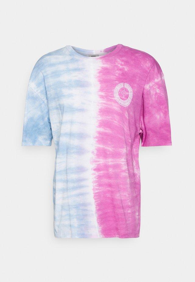 NEW BEGINNING TEE UNISEX - T-shirt z nadrukiem - purple ombre