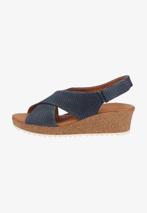 Sandalen met plateauzool - blau