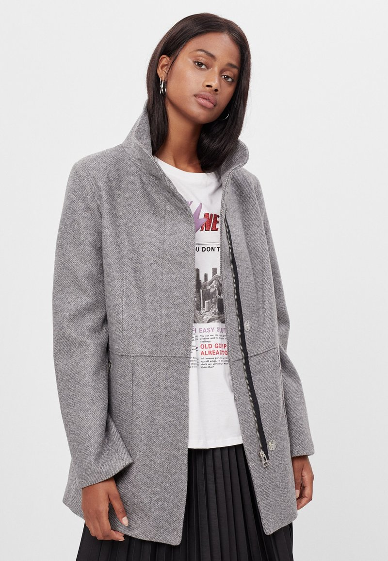 Bershka - Short coat - light grey