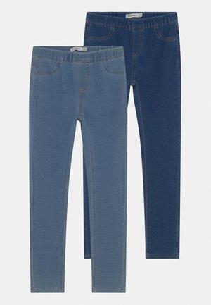 KID TERRY 2 PACK - Leggings - Trousers - moonlight blue/ensign blue