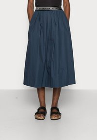 esmé studios - CALLA MIDI SKIRT - A-line skirt - dark sapphire - 0