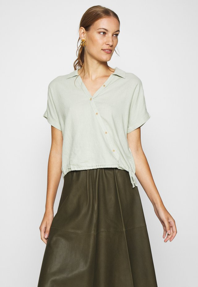 Button-down blouse - sea foam