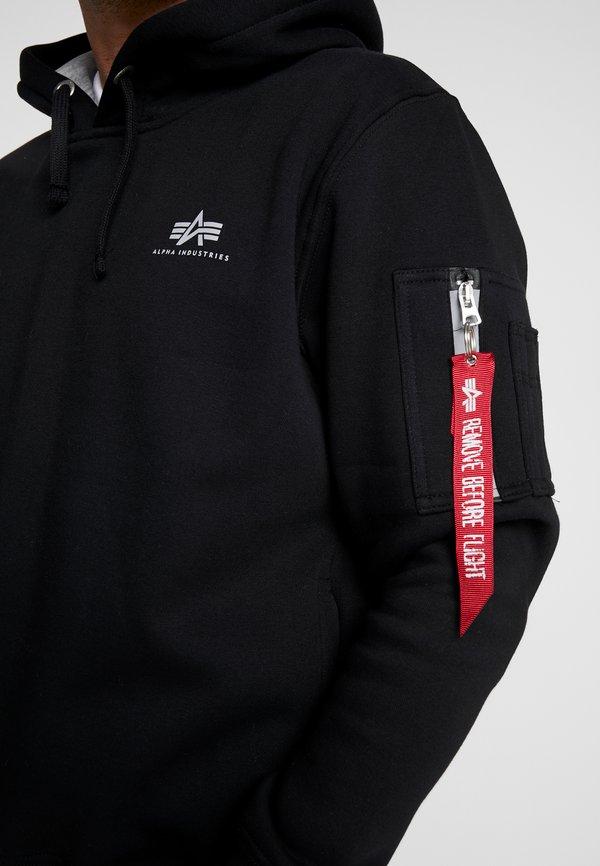 Alpha Industries Bluza z kapturem - black/czarny Odzież Męska JAAI