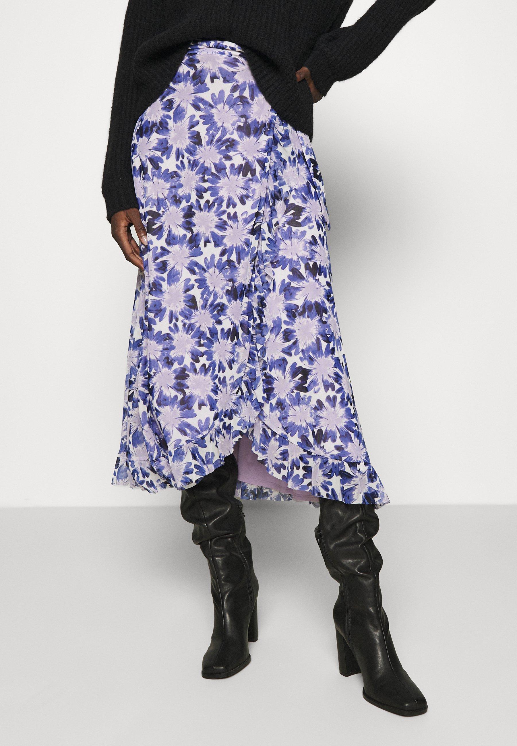 Women BOBO FRILL SKIRT - Wrap skirt - marigold lilac