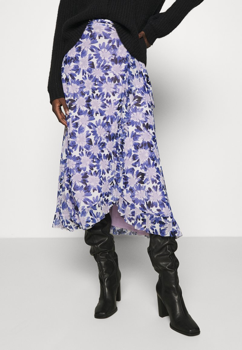 Fabienne Chapot - BOBO FRILL SKIRT - Wrap skirt - marigold lilac