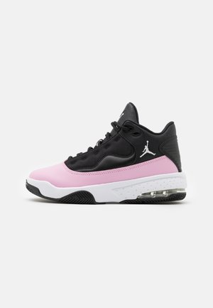 MAX AURA 2 UNISEX - Basketball shoes - black/white/light arctic pink