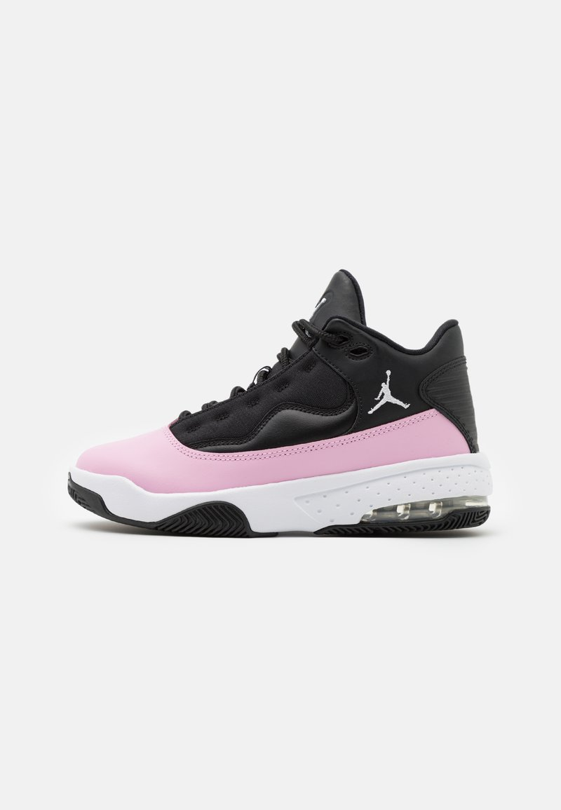 Jordan - MAX AURA 2 UNISEX - Basketball shoes - black/white/light arctic pink