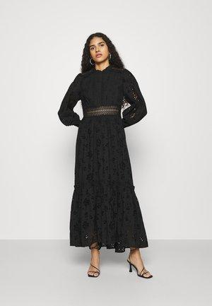 BRODERIE DRESS - Day dress - black