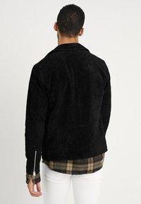 Jack & Jones - JORDANE - Leather jacket - black - 2