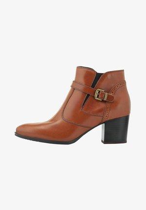 Boots à talons - mittelbraun