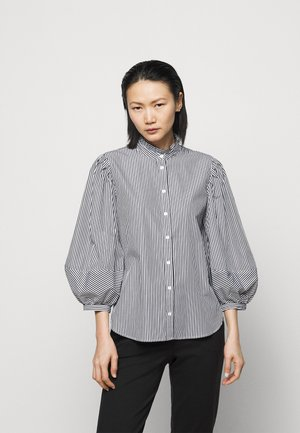 70S NON STRETCH - Button-down blouse - black/white