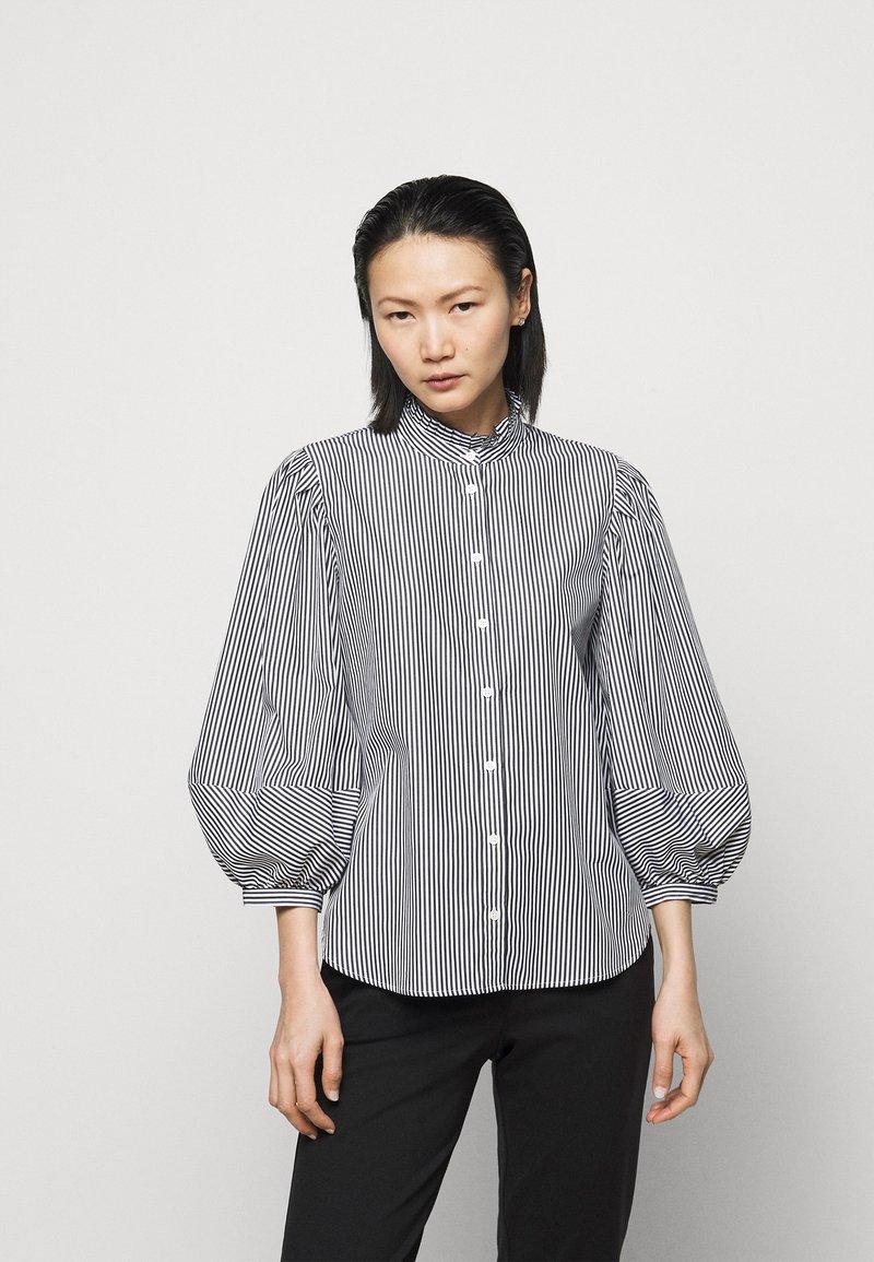 Lauren Ralph Lauren - 70S NON STRETCH - Button-down blouse - black/white