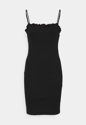 PCTEGAN STRAP DRESS - Strikkjoler - black