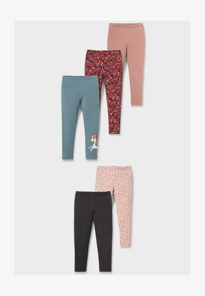 Leggings - Trousers - rose / rose / red