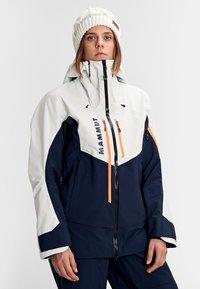 Mammut - Kurtka snowboardowa - marine-bright white - 0