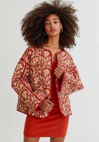 PULL&BEAR - Light jacket - mottled dark red - 0