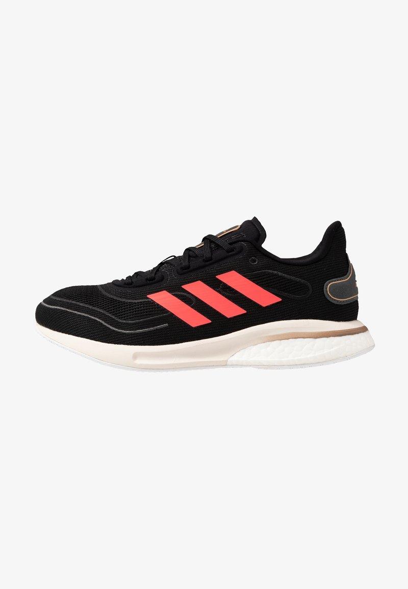 adidas Performance - SUPERNOVA - Neutral running shoes - core black/signal pink/copper metallic