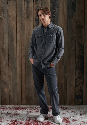 RESURRECTION - Chemise - light grey wash