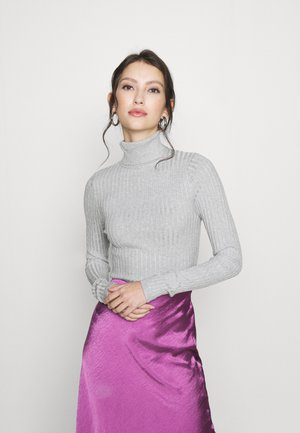 ROLL NECK JUMPER - Strickpullover - light grey
