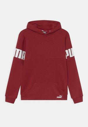POWER COLORBLOCK HOODIE UNISEX - Sweatshirt - intense red