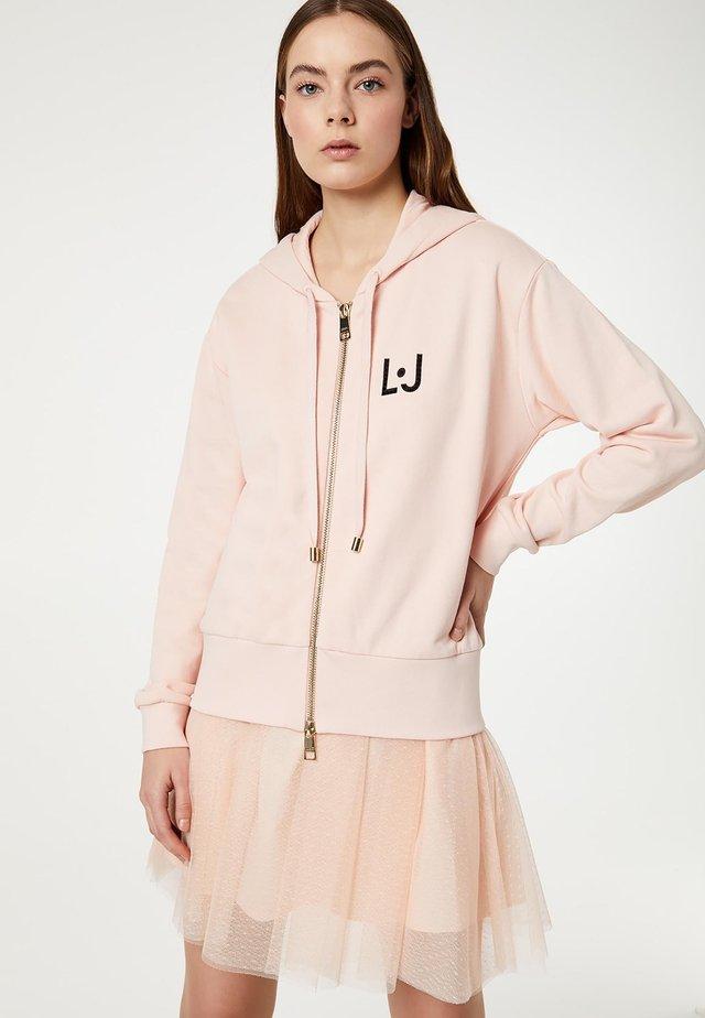 Zip-up hoodie - powder pink