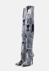 BEBO - WESTRA - Kozačky na vysokém podpatku - white - 2