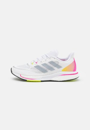 SUPERNOVA +  - Zapatillas de running neutras - footwear white/halo silver/scream pink