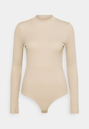 VMMIA HIGHNECK BODY - Long sleeved top - beige