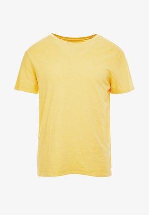 SLUB CREW NECK - Jednoduché triko - yellow